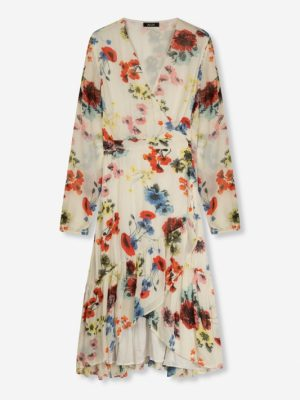 Flower chiffon jurk Alix the label